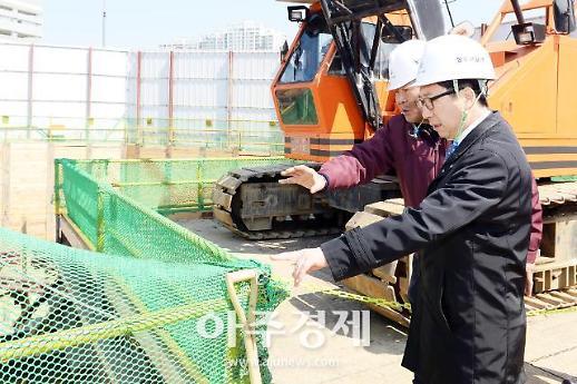 최종환 시장, 해빙기 대형건축공사장 합동점검 현장 방문