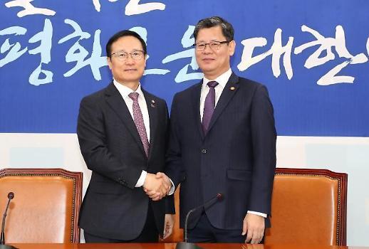 김연철 남북미, 3자 선순환해야…홍영표 남북 협력 진전 역할 당부