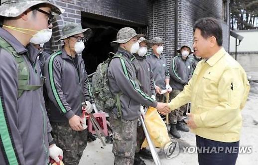 서주석 국방 자관, 육군 22사단 방문... 산불 진화 기여 격려