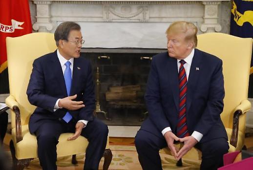 [한미 정상회담] 文대통령 韓·美, 北 완전한 비핵화 최종적 상태 의견 일치