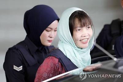 김정남 살해 혐의 베트남 여성, 내달 3일 석방 예고
