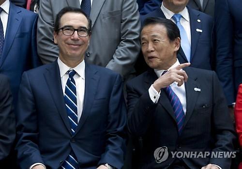 미·일 무역협상 15일 개시…므누신 환율문제도 논의