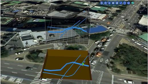 상수도 지하시설물 뚝도아리수정수센터 3차원 공간정보서비스 구축