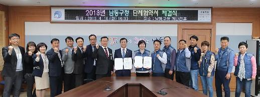 인천 남동구, 공무원노조와 단체협약 체결