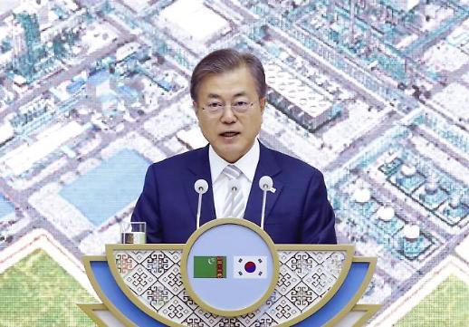文대통령, 한국 기업 수주 키얀리 가스화학단지 방문…현지 관계자 격려