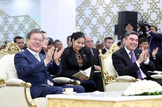 문재인 대통령, 투르크메니스탄 찍고 우즈베키스탄 타슈켄트로