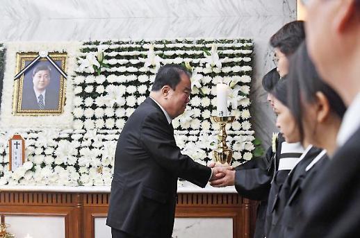 DJ의 아들이자 정치적 동지…故 김홍일 빈소 조문 행렬 이어져