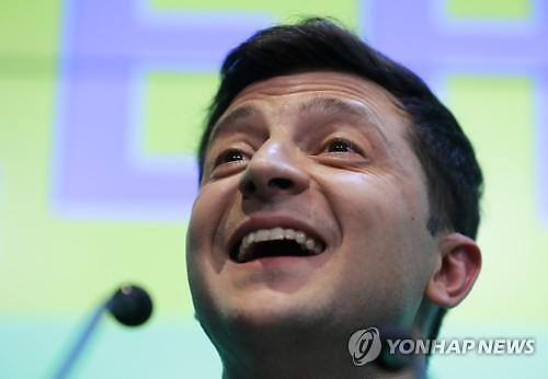 우크라이나 대선 출구조사서 코미디언 출신 젤렌스키 압승 전망