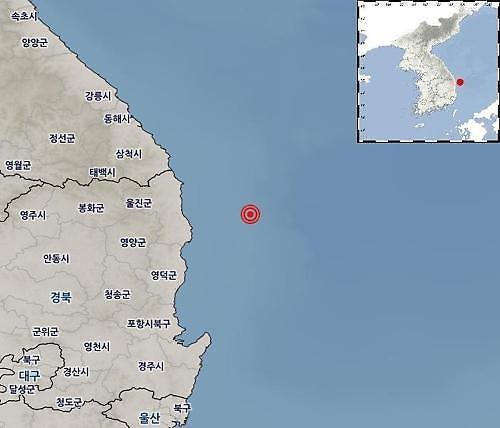경북 울진 38㎞ 해역, 규모 3.8 지진 피해 없어