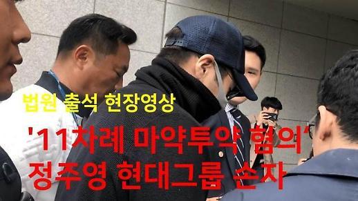 [영상] 결국 구속…'상습 마약' 정주영 손자가 법원에서 한 말은