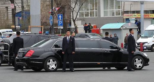 [북러정상회담]김정은, 블라디보스토크 도착…회담장 극동연방대 이동