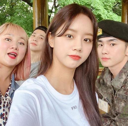 [슬라이드 #SNS★] 박나래·혜리·보아, 키 면회 인증샷 #군키 #키범이 #기범이