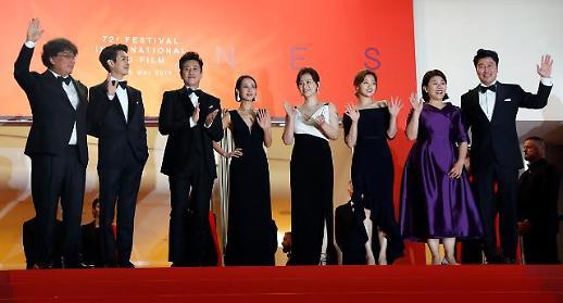칸 방문한 기생충, 열띤 취재열기에 주연배우들 한국대표…영광스러워