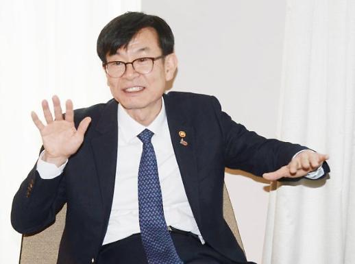 김상조, 자발적 순환출자 해소에 중견그룹도 동참해달라
