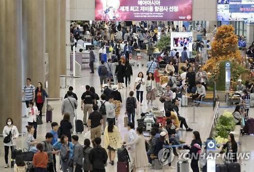 해외로 나가는 한국인 여행객, 국내 들어오는 외국인 여행객의 2배...서비스 무역에도 먹구름 여전