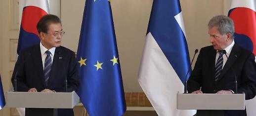 한·핀란드 정상회담 文대통령 조만간 南北·北美 대화 재개 믿는다