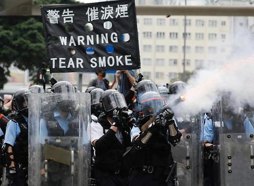 [글로벌 포토] 홍콩 시위 격화…최루탄·물대포 발사까지