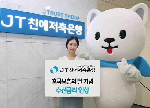 JT친애저축은행, 정기예금 금리 최대 0.45%p 인상