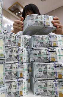 한 달 새 원·달러 환율 20원 껑충…달러화 예금 24억 달러↑