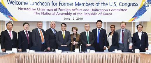 윤상현 미국 前의원들 만나 비핵화 노력 강조