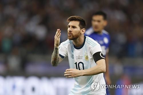 [코파아메리카] 아르헨티나, 메시 동점골에도 최하위…파라과이와 무승부