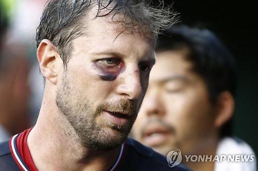 '류현진 경쟁자' 셔저, 코뼈 골절에도 '투혼투'… 7이닝 '10K 무실점'