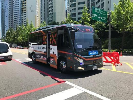 [체험기] 돌발 상황도 척척…자율주행 버스, 5G 네트워크 타고 달렸다
