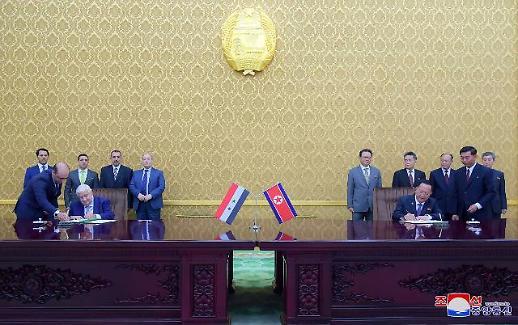 북한-시리아 외교장관 회동…미국과 그 동맹국들의 경제제재에 공동대응