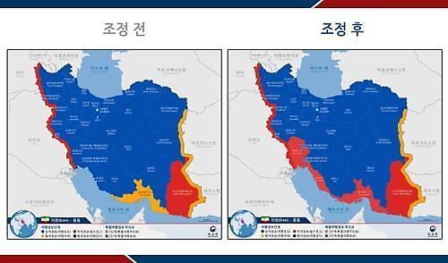 이란 페르시아만 연안 3개주 철수권고…여행경보 상향조정