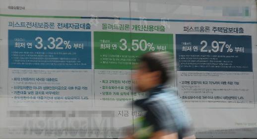 5월 신규취급 주택담보대출 금리 2.93%…2년7개월만에 최저