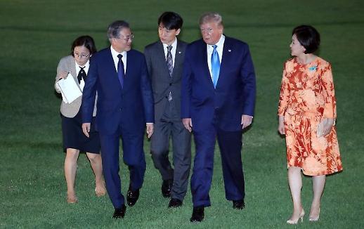 골프광 트럼프, 박세리 감독과 긴 대화 …文 박성현도 박세리키즈
