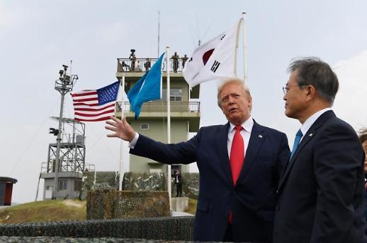 [속보] 문 대통령·트럼프, 판문점으로 이동…곧 김정은과 만나