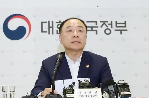홍남기, 민간·공공영역 여력 총동원해 투자분위기 확산할 것