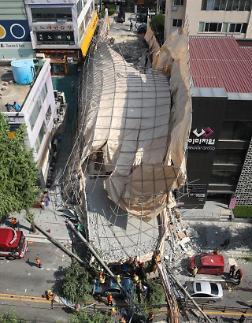 잠원동 건물 붕괴사고로 예비부부 참변…안전규정 위반 가능성 나와