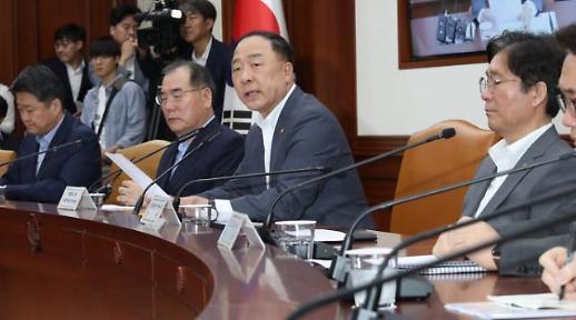 홍남기, 日 수출제한조치 WTO 협정 배치...국제공조 나서겠다(종합)