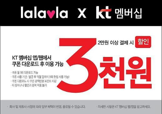랄라블라, KT 통신사 할인 서비스 업계 최초 도입