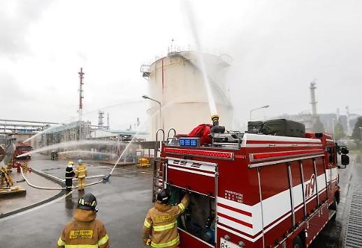 대림산업, 여수 석유화학공장서 비상사태 대응 훈련 실시