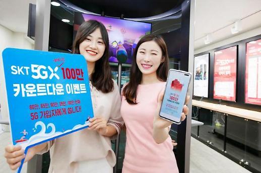 SK텔레콤 5G 100만번째 가입자 '제주 럭셔리 패키지' 받는다