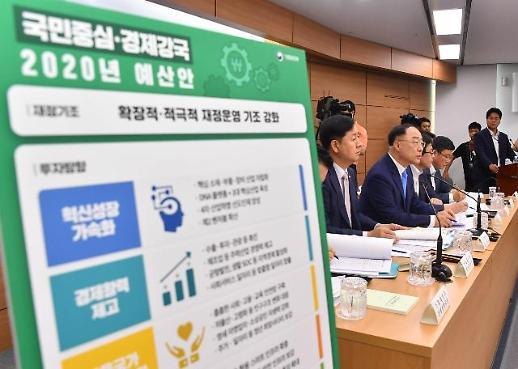 [2020년 예산안] 홍남기, 2020년 예산안, 경제 강국 구현 발판 될 것