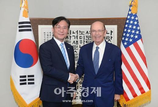 성윤모, 美 상무장관 만나 한국산 車 관세 면제해야