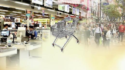 (속보)소비자물가 2개월 연속 마이너스…9월 -0.4%