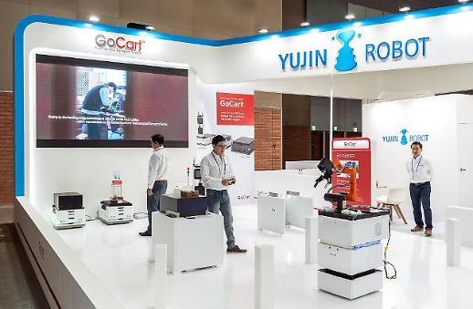 유진로봇, 자율주행 물류배송시스템 '고카트 60' 선봬