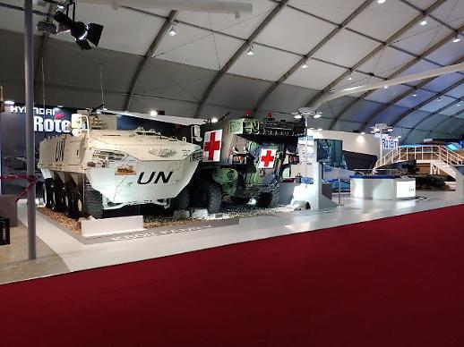 [서울 아덱스 2019] 현대로템, 사막형 K2 전차 등 주력무기 실물 전시