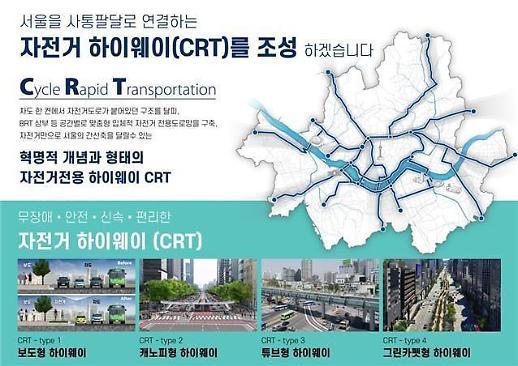 강남~사대문 30분 서울 자전거 하이웨이 타당성조사 용역 추진