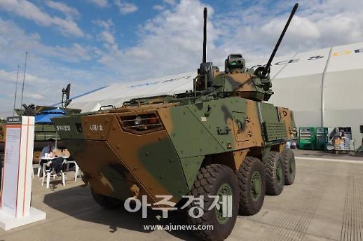 [포토] 드론잡는 30mm 차륜형대공포 (서울 ADEX 2019)
