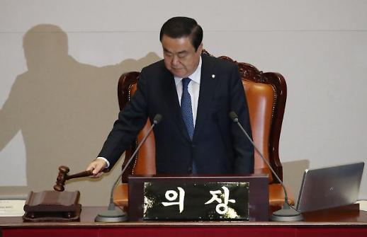 문희상 의장-여야 4당 대표, 두 번째 정치협상회의…'패트 합의 처리' 원론적 공감대만