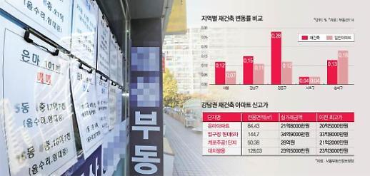 강남 재건축 아파트 신고가 속출 부자들 부동산에 올인