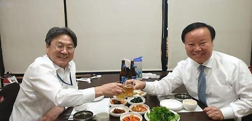 강기정, 김재원 위원장과 맥주 회동…예결위는 열려야