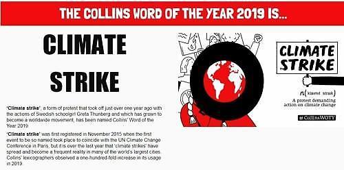 기후파업...英콜린스 사전 올해의 단어