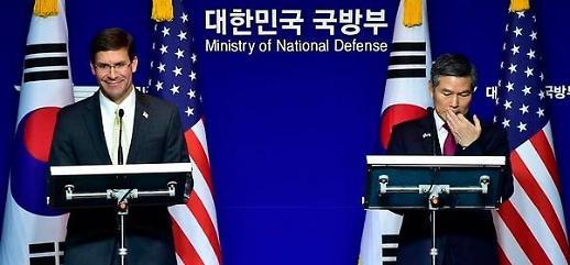 안보협의회의 종료... 韓美국방, 방위비·지소미아 동상이몽
